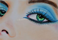 Mystic Eye  pastel drawing on 18x24   https://www.facebook.com/BrauckmannsART