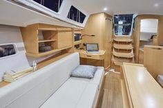 Risultati immagini per jeanneau 319 Sailboat Interior, Magic Carpet, Happy Campers, Bunk Beds, Sailing, Interior Design, Dream Life, Furniture, Home Decor