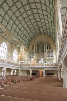 Intérieur - Cathédrale de Mikkeli (Finlande) Mansions, House Styles, Finland, Spain, Italy, World, Mansion Houses, Mansion, Palaces