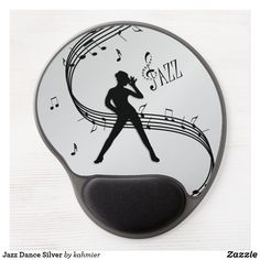 Jazz Dance Silver Gel Mouse Pad Dance All Day, Jazz Dance, Dance Photos, Christmas Card Holders, Music, Silver, Design Products, Things To Sell, Green