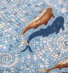 Goldfish mosaic by Gary Drostle (what creativity, the way he did the shadow) pool?Jacques Pienaar Arts And Mosaics: Mosaic'd Koi Fish PondAmazing Garden Fishpond Mosaic by Croydon, image of in the mosaic with the shadowGary Drostle --- Lorraine: One Pebble Mosaic, Mosaic Wall, Mosaic Glass, Glass Art, Stained Glass, Mosaic Floors, Mosaic Pots, Mosaic Mirrors, Stone Mosaic