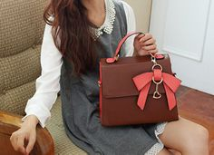 Sweet Women's Tote Bag With Color Matching and Bow Design IN $39.99 – PEDICURE & SHOES 2 GO, LLC