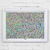 Hand Drawn Map Of London Print
