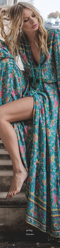 Boho Style https://poshatplay.wordpress.com/2016/05/20/flirty-floral-dresses-perfect-for-springtime-fun/