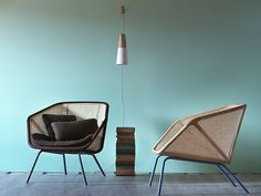 Straw easy chair COLONY by Miniforms