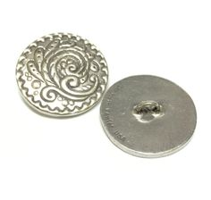 Danforth Rosemail Button- Silver Button- Lead Free Pewter- Metal Button- 27mm by SunsetSupplyCo on Etsy
