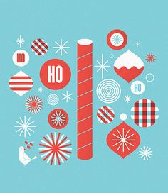 holiday graphics-I just really like the style and colors.