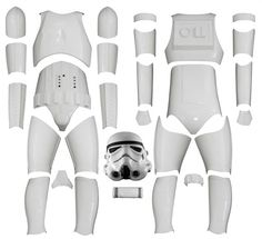 STAR WARS : Costumes and Toys : KIT VERSION 2 - Star Wars Stormtrooper Costume Armour with Replica Helmet