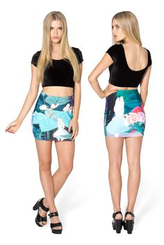 Wonderland Wifey Skirt by Black Milk Clothing $60AUD