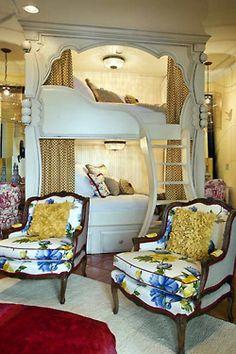 Unique built-in bunk beds