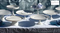 Cake stands made from old plates and goblets. Got so many plate and cup sundries it would be good to do something with them. Here's the tutorial http://weddingsandcookies.blogspot.com/2009/10/cookie-stands-20.html. Needs non-toxic spray paint, not sure how you'd get that here.