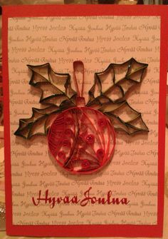 Christmas tree decoration by quilling