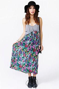 Garden Spell Maxi Skirt in Vintage at Nasty Gal