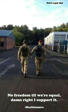 Military gay love. Damn straight I support it!!! :D <3