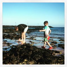 Crabbing in golden hour  Another action packed day here @activelanzarote  Wish I knew where Freddy gets all of his energy from! - - #holidays #sun #summer #lanzarote #crabbing #goldenhour #daddyson #myboys #myworld #precious