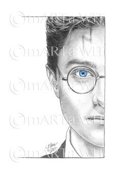 Fanart Harry Potter, Harry Potter Kunst, Harry Potter Sketch, Harry Potter Artwork, Harry Potter Drawings, Harry James Potter, Harry Potter Characters, Voldemort, Pencil Art Drawings