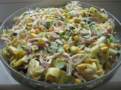 Sałatka z Tortellini Tortellini Salad, Pasta Salad, European Dishes, Cooking Recipes, Healthy Recipes, Side Salad, Easy Chicken Recipes, Fusilli, Recipes