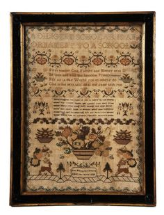 A George IV needlework sampler, by Ann Maria Livermore, : Lot 322