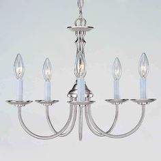 $65 -- another contender for diy barbed wire chandelier  Volume International�5-Light Brushed Nickel Chandelier