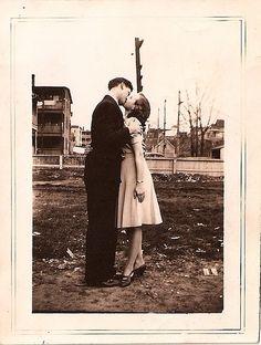 vintage love, photograph, couple, 1940s, dress, style, couple, fashion