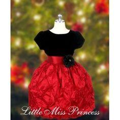 Little Miss Princess Christmas Dress