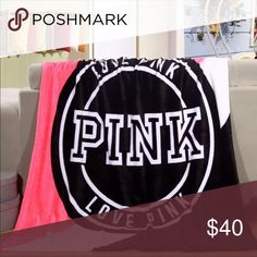 New pink blanket Spring/Autumn Victoria Brand VS Secret Pink Coral Fleece Fabric Blankets Size Flannel Bedding Article Small Blanket Accessories Scarves & Wraps Pink Love, Coral Pink, Vs Pink, Pink Color, Small Blankets, Soft Blankets, Vs Secret, Victoria's Secret Pink, Pink Throws