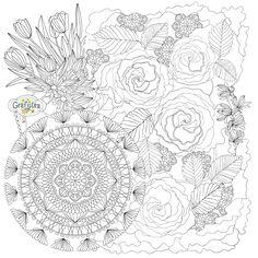 Распечатать раскраску с розами