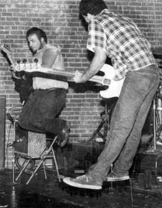 d.boon and mike watt (playing guitar).