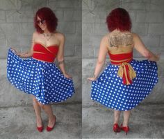 Superhero Convertible Dress Inspired by Wonder Woman