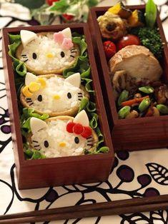 Adorable Hello kitty inarizushi bento box