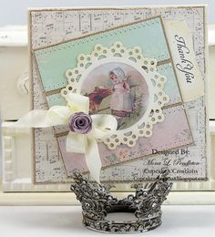 I made this Thank you card using pretty products from the Melissa Frances 5th Avenue collection.  Thanks for looking :)