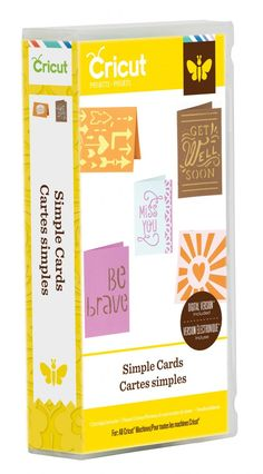 New Cricut Project Simple Cards Cartridge