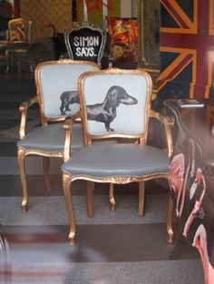 LOVE these chairs - great idea