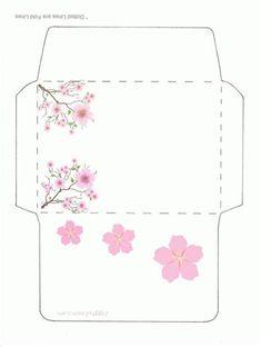 Envelope Template Printable, Printable Box, Templates Printable Free, Free Printables, Envelope Design Template, Cute Envelopes, Paper Envelopes, Paper Toys, Paper Crafts