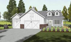 Very different - I really like it.  Country House Plan with Finished Lower Level - 64433SC | Architectural Designs - House Plans