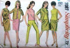 Vintage 60s Simplicity 7087 Slim Pant Skirt Suit by stumbleupon, $8.75
