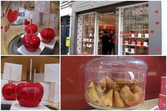Valentine pastries in Paris - at La Pâtisserie des Rêves with the Pommes d'Amour of Philippe Conticini, and fortune cookies with love messages | Mad about Macarons! Le Teatime Blog in Paris