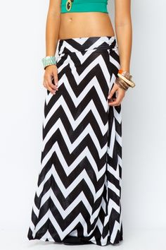 Chevron Print Maxi Skirt  $12.99// this website is awesome, cheap plus sizes too