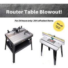 From heavy duty cast-iron extruded aluminum and steel, to heavy white melamine with sturdy MDF core; from tilt-up tops to high split fences - for 24 hours, take 20% off some of our best router tables! . . . . . #routertables #woodworking #woodworkingtools #routing #mlcswoodworking #diywoodwork #woodshop #newtools Best Router Table, Extruded Aluminum, Fences, Tilt, Woodworking Tools, Cast Iron, Core, Tables, Steel