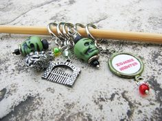Non-Snag Stitch Markers: Zombie Apocalypse  This set can be personalized! (up to 4 words)