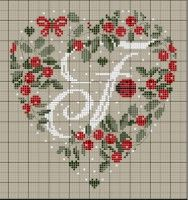 ru / Фото - Coeurs Alphabet - mornela Plus Just Cross Stitch, Cross Stitch Heart, Cross Stitch Alphabet, Cross Stitch Flowers, Cross Stitching, Cross Stitch Embroidery, Cross Stitch Patterns, Embroidery Alphabet, Christmas Embroidery
