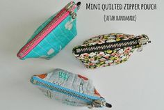 mini quilted zipper pouch {a free tutorial}