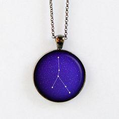 Cancer Constellation Necklace  Zodiac Necklace  por StarlightBags