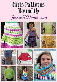 Crochet Patterns for Girls ~ Round Up from Jessie At Home