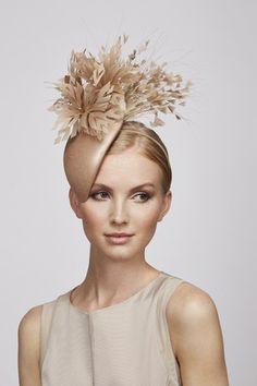 Feather Flower teardrop | Juliette Botterill Millinery SS 2014