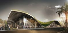 World Architecture Community News - PDG Architects designs monolithic green roof to cover local bazaar in Antalya World Architecture Festival, Green Architecture, Concept Architecture, Sustainable Architecture, Landscape Architecture, Residential Architecture, Contemporary Architecture, Pavilion Architecture, Antalya