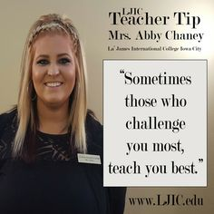 Today's Teacher Tip comes from Ms. Whitfield at La' James ...