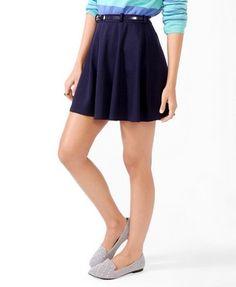 Skater Skirt w/ Belt   FOREVER 21 - 2027704949