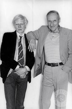 William Burroughs and Andy Warhol