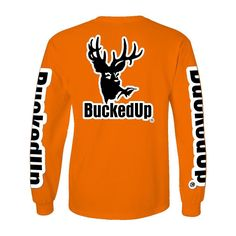 Tag someone you  for Valentine's Day  LONG SLEEVE SAFETY ORANGE WITH WHITE LOGO Please visit BuckedUpApparel.com  #buckedup #hunting #deer #country #monsterjam #countrygirl #countryboy #countrymusic #redneck #countrylife #outdoorsy #bonefire #trucks #deerseason #bowhunting #outdoors #shedhunting #antlerswithattitude #vday #mudding #getbuckedup #valentines2016 #happyvalentinesday